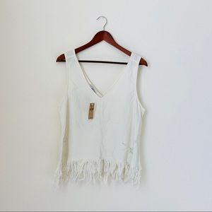 American Eagle•Distressed Jean Tank Top
